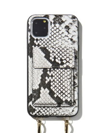 Sonix ソニックス iPhone 11 Pro Max 6.5インチ Crossbody Case Set Gray Python Leather 294-4002-0011