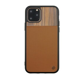 AEGIS iPhone 11 6.1インチ ECOレザー GENUINE WOOD BACK SHELL/BG UUIPEFHS37