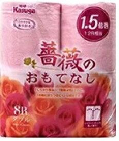 春日製紙工業 薔薇のおもてなし8RWピンク1.5倍巻 [ダブル /8ロール /25m /消臭 /消臭]