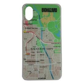 テラ バイオハザード ガラスケース MAP iPhoneX/Xs GCN-BHMA-C-TL グリーン