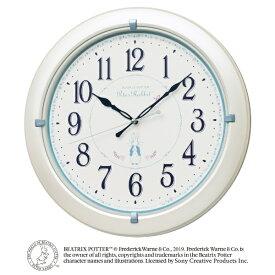 セイコー SEIKO 掛け時計 ピーターラビット 白パール CL301W