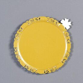 中澤函 NAKAZAWA HACO デコラプレート エンジェル φ185mm(25枚入) ゴールド <NDK2402>[NDK2402]