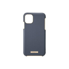 坂本ラヂヲ Shrink PU Leather Shell Case for iPhone 11 6.1インチ NVY CSCLS-IP02NVY