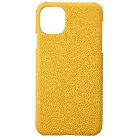 坂本ラヂヲ Shrunken-calf Leather Shell for iPhone 11 Pro Max 6.5インチ YLW GSCSC-IP03YLW