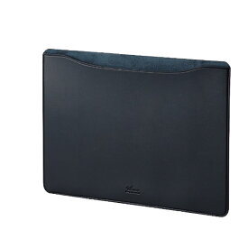エレコム ELECOM MacBook 13インチ用 レザースリーブケース BM-IBSVM1913NV ネイビー[BMIBSVM1913NV]