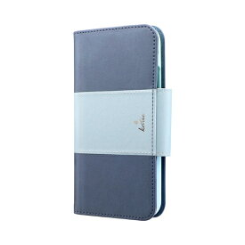 MSソリューションズ iPhone 11 6.1インチ PREMIER Katie 手帳型ケース ブルー LP-IM19PREKBL