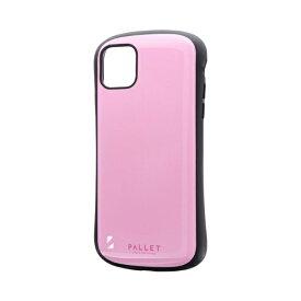 MSソリューションズ iPhone 11 Pro Max 6.5インチ NEW PALLET 耐衝撃ケース ピンク LP-IL19PLPK