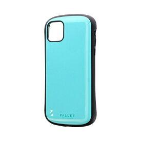 MSソリューションズ iPhone 11 Pro Max 6.5インチ NEW PALLET 耐衝撃ケース ミントグリーン LP-IL19PLGR