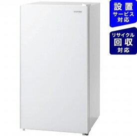 アイリスオーヤマ IRIS OHYAMA 《基本設置料金セット》KRJD-9GA-W 冷蔵庫 ホワイト [1ドア /右開きタイプ /93L][冷蔵庫 小型 新品 一人暮らし KRJD9GAW]