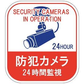 日本緑十字 JAPAN GREEN CROSS 緑十字 ステッカー標識 防犯カメラ・24時間監視 100×90mm 5枚組 エンビ 047127
