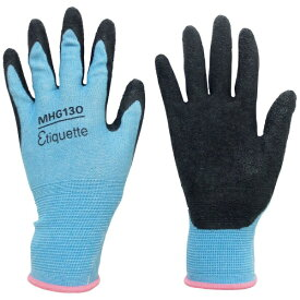 ミドリ安全 MIDORI ANZEN ミドリ安全 消臭機能糸使用 作業手袋 ハイグリップ天然ゴム背抜き 薄手 MHG130エチケット S MHG-130-ETIQUETTE-S