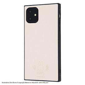イングレム Ingrem iPhone 11 6.1インチ / 『ミッフィー』/耐衝撃オープンレザーケース KAKU/ベージュ IS-BP21KOL1/MF2
