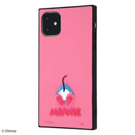 イングレム Ingrem iPhone 11 6.1インチ / 『ディズニーキャラクター』/耐衝撃ハイブリッドケース シリコン KAKU/ミニー IS-DP21KOS1/MN1