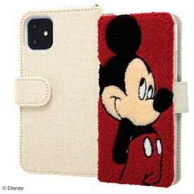 イングレム Ingrem iPhone 11 6.1インチ / 『ディズニーキャラクター』/手帳型ケース サガラ刺繍/ミッキー IS-DP21SGR1/MK