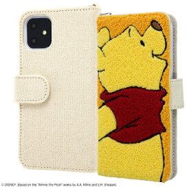 イングレム Ingrem iPhone 11 6.1インチ / 『ディズニーキャラクター』/手帳型ケース サガラ刺繍/プー IS-DP21SGR1/PO
