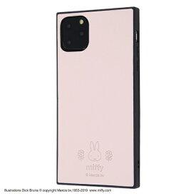 イングレム Ingrem iPhone 11 Pro Max 6.5インチ / 『ミッフィー』/耐衝撃オープンレザーケース KAKU/ピンク IS-BP22KOL1/MF1
