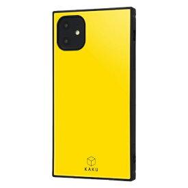 イングレム Ingrem iPhone 11 6.1インチ / 耐衝撃ハイブリッドケース KAKU/イエロー IQ-P21K3TB/Y