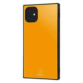 イングレム Ingrem iPhone 11 6.1インチ / 耐衝撃ハイブリッドケース KAKU/オレンジ IQ-P21K3TB/OR