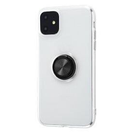 イングレム Ingrem iPhone 11 6.1インチ / TPUソフトケース リング付/ブラック IN-P21TC30/BM