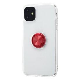 イングレム Ingrem iPhone 11 6.1インチ / TPUソフトケース リング付/レッド IN-P21TC30/RM