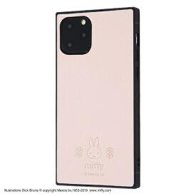 イングレム Ingrem iPhone 11 Pro 5.8インチ / 『ミッフィー』/耐衝撃オープンレザーケース KAKU/ピンク IS-BP23KOL1/MF1