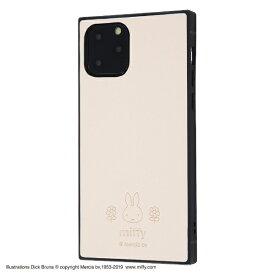 イングレム Ingrem iPhone 11 Pro 5.8インチ / 『ミッフィー』/耐衝撃オープンレザーケース KAKU/ベージュ IS-BP23KOL1/MF2
