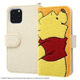 イングレム Ingrem iPhone 11 Pro 5.8インチ / 『ディズニーキャラクター』/手帳型ケース サガラ刺繍/プー IS-DP23SGR1/PO