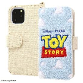 イングレム Ingrem iPhone 11 Pro 5.8インチ / 『ディズニー・ピクサーキャラクター』/手帳型ケース サガラ刺繍/『トイ・ストーリー/ロゴ』 IS-DP23SGR1/TY
