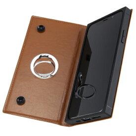 イングレム Ingrem iPhone 11 Pro 5.8インチ / 手帳型 耐衝撃レザーケース KAKU リング付360 ピタッとカバー/キャメル IN-P23KBC1/K