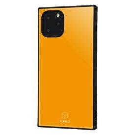 イングレム Ingrem iPhone 11 Pro 5.8インチ / 耐衝撃ハイブリッドケース KAKU/オレンジ IQ-P23K3TB/OR