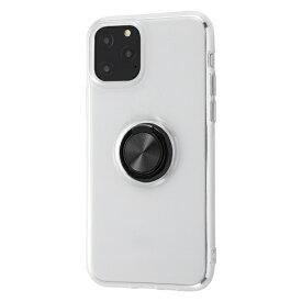 イングレム Ingrem iPhone 11 Pro 5.8インチ / TPUソフトケース リング付/ブラック IN-P23TC30/BM
