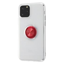 イングレム Ingrem iPhone 11 Pro 5.8インチ / TPUソフトケース リング付/レッド IN-P23TC30/RM
