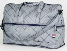 ハピタス 折り畳みボストンバッグ H0002375 トリコロールグレー