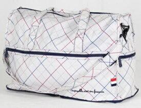 ハピタス 折り畳みボストンバッグ H0002376 トリコロールアイボリー