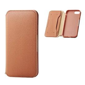 エレコム ELECOM iPhone8/7 (4.7) ソフトレザーケース 磁石付 ブラウン HK-A17MPLFY2BR