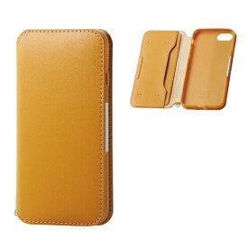 エレコム ELECOM iPhone8/7 (4.7) ソフトレザーケース 磁石付 キャメル HK-A17MPLFY2CL