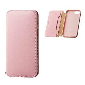 エレコム ELECOM iPhone8/7 (4.7) ソフトレザーケース 磁石付 ピンク HK-A17MPLFY2PN