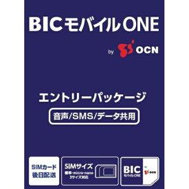 OCN BICモバイルONE 音声・SMS・データ共通 [SMS対応 /マルチSIM][OCN038]【point_rb】