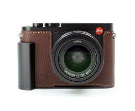 リムズ LIM'S メタルグリップ 本革 カメラハーフケース LC-Q2DBR1 ブラウン