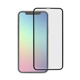 OWLTECH オウルテック iPhone 11 Pro/Xs/X 5.8インチ 画面保護ガラス 全面保護 スタンダードガラス 0.26mm厚 PETフレーム クリア OWL-GPIB58F-BCL ブラック