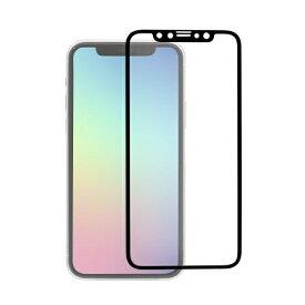 OWLTECH オウルテック iPhone 11 Pro/Xs/X 5.8インチ 画面保護ガラス 全面保護 スタンダードガラス 0.26mm厚 PETフレーム マット OWL-GPIB58F-BAG ブラック