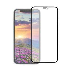 OWLTECH オウルテック iPhone 11 Pro/Xs/X 5.8インチ 画面保護ガラス 全面保護 貼付けキット付き 3次強化ガラス 0.33mm厚 GLASSフレーム マット OWL-GUIB58F-BAG ブラック