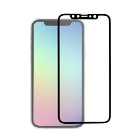 OWLTECH オウルテック iPhone 11 /XR 6.1インチ 画面保護ガラス 全面保護 スタンダードガラス 0.26mm厚 PETフレーム マット OWL-GPIB61F-BAG ブラック