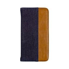 OWLTECH オウルテック iPhone 11 Pro 5.8インチinch用 カード収納ポケット付き手帳型ケース OWL-CVIB5804-IBBR インディゴブルーxブラウン