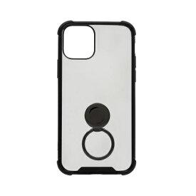 OWLTECH オウルテック iPhone 11 Pro 5.8インチinch用 リング付耐衝撃ケース OWL-CVIB5807-BK ブラック