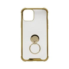 OWLTECH オウルテック iPhone 11 Pro 5.8インチinch用 リング付耐衝撃ケース OWL-CVIB5807-GO ゴールド