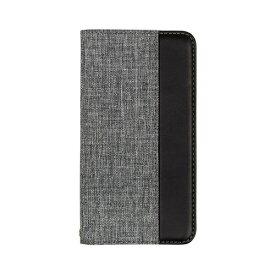 OWLTECH オウルテック iPhone 11 6.1インチ 用 カード収納ポケット付き手帳型ケース OWL-CVIB6103-GYBK グレーxブラック