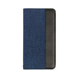 OWLTECH オウルテック iPhone 11 6.1インチ 用 カード収納ポケット付き手帳型ケース OWL-CVIB6103-NVBK ネイビーxブラック