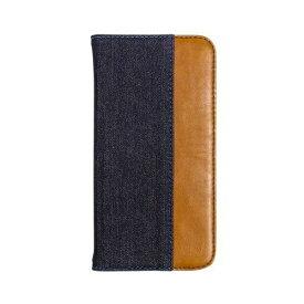 OWLTECH オウルテック iPhone 11 6.1インチ 用 カード収納ポケット付き手帳型ケース OWL-CVIB6104-IBBR インディゴブルーxブラウン