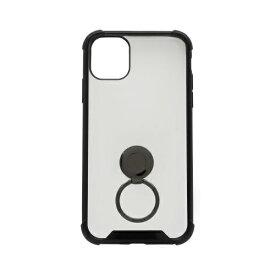 OWLTECH オウルテック iPhone 11 6.1インチ 用 リング付耐衝撃ケース OWL-CVIB6107-BK ブラック